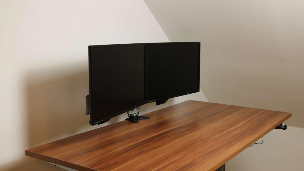2-fach Tischhalterung-fertig-montiert-Seitenansicht
