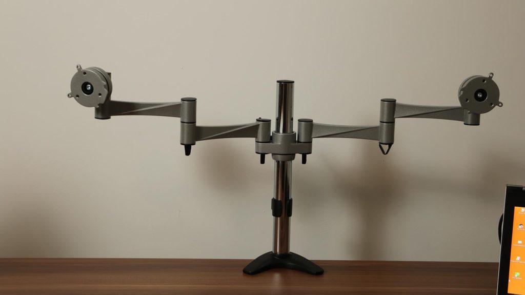 2-fach Tischhalterung-mit-Monitorarm
