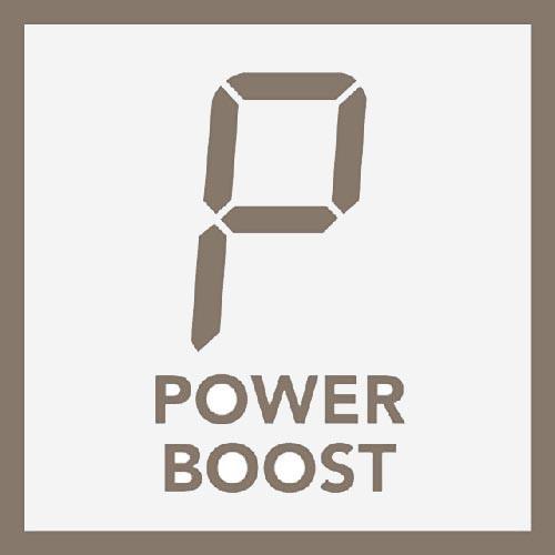 Induktionsfeld mit Powerboost